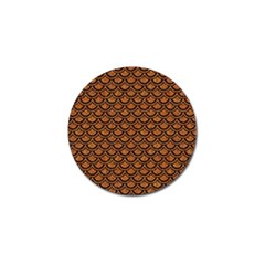 Scales2 Black Marble & Rusted Metal Golf Ball Marker (4 Pack)