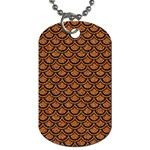 SCALES2 BLACK MARBLE & RUSTED METAL Dog Tag (Two Sides) Back