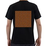 SCALES2 BLACK MARBLE & RUSTED METAL Men s T-Shirt (Black) (Two Sided) Back