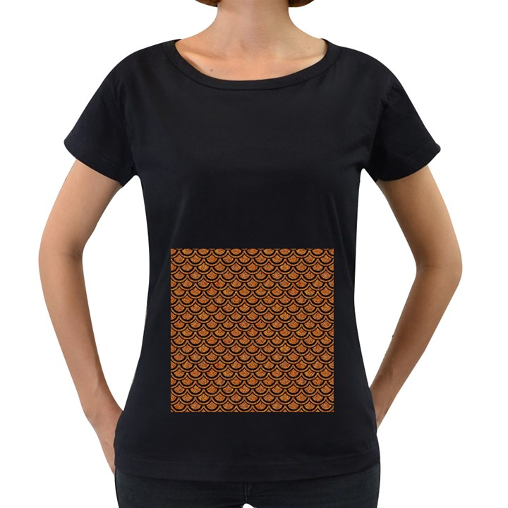 SCALES2 BLACK MARBLE & RUSTED METAL Women s Loose-Fit T-Shirt (Black)