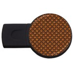 SCALES2 BLACK MARBLE & RUSTED METAL USB Flash Drive Round (4 GB) Front