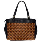 SCALES2 BLACK MARBLE & RUSTED METAL Office Handbags (2 Sides)  Back