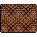 SCALES2 BLACK MARBLE & RUSTED METAL Fleece Blanket (Medium)  60 x50 Blanket Front