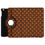 SCALES2 BLACK MARBLE & RUSTED METAL Apple iPad Mini Flip 360 Case Front