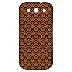 SCALES2 BLACK MARBLE & RUSTED METAL Samsung Galaxy S3 S III Classic Hardshell Back Case Front