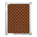 SCALES2 BLACK MARBLE & RUSTED METAL Apple iPad 3/4 Case (White) Front