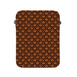 SCALES2 BLACK MARBLE & RUSTED METAL Apple iPad 2/3/4 Protective Soft Cases Front