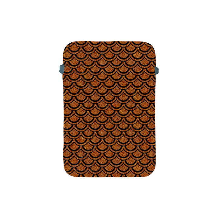 SCALES2 BLACK MARBLE & RUSTED METAL Apple iPad Mini Protective Soft Cases