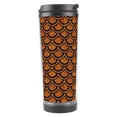 Scales2 Black Marble & Rusted Metal Travel Tumbler