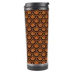 SCALES2 BLACK MARBLE & RUSTED METAL Travel Tumbler Center