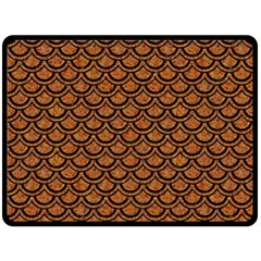 Scales2 Black Marble & Rusted Metal Double Sided Fleece Blanket (large)