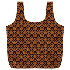 Scales2 Black Marble & Rusted Metal Full Print Recycle Bags (l)