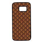 SCALES2 BLACK MARBLE & RUSTED METAL Samsung Galaxy S7 Black Seamless Case Front