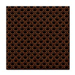 SCALES2 BLACK MARBLE & RUSTED METAL (R) Tile Coasters Front