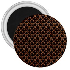 Scales2 Black Marble & Rusted Metal (r) 3  Magnets