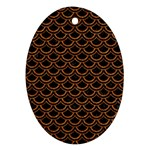 SCALES2 BLACK MARBLE & RUSTED METAL (R) Ornament (Oval) Front