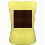 SCALES2 BLACK MARBLE & RUSTED METAL (R) Women s Yellow Tank Top Back