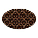 SCALES2 BLACK MARBLE & RUSTED METAL (R) Oval Magnet Front