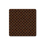 SCALES2 BLACK MARBLE & RUSTED METAL (R) Square Magnet Front