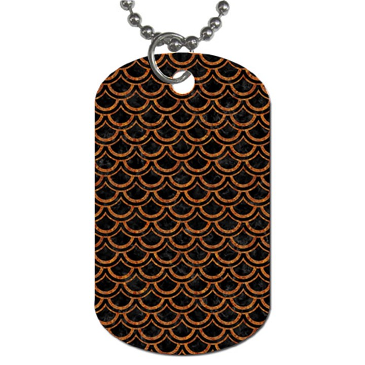 SCALES2 BLACK MARBLE & RUSTED METAL (R) Dog Tag (One Side)