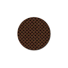 Scales2 Black Marble & Rusted Metal (r) Golf Ball Marker (10 Pack)