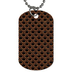 Scales2 Black Marble & Rusted Metal (r) Dog Tag (two Sides)