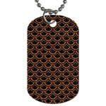 SCALES2 BLACK MARBLE & RUSTED METAL (R) Dog Tag (Two Sides) Front