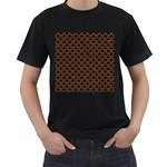 SCALES2 BLACK MARBLE & RUSTED METAL (R) Men s T-Shirt (Black) (Two Sided) Front