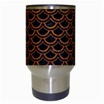 SCALES2 BLACK MARBLE & RUSTED METAL (R) Travel Mugs (White) Center