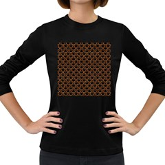 Scales2 Black Marble & Rusted Metal (r) Women s Long Sleeve Dark T Shirts