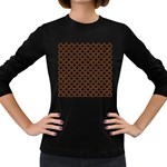 SCALES2 BLACK MARBLE & RUSTED METAL (R) Women s Long Sleeve Dark T-Shirts Front