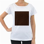 SCALES2 BLACK MARBLE & RUSTED METAL (R) Women s Loose-Fit T-Shirt (White) Front