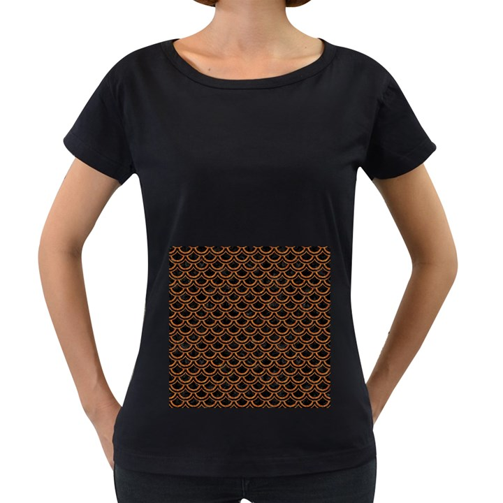 SCALES2 BLACK MARBLE & RUSTED METAL (R) Women s Loose-Fit T-Shirt (Black)