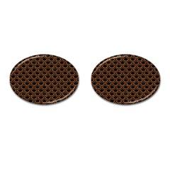 Scales2 Black Marble & Rusted Metal (r) Cufflinks (oval)