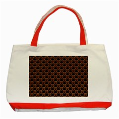 Scales2 Black Marble & Rusted Metal (r) Classic Tote Bag (red)