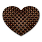 SCALES2 BLACK MARBLE & RUSTED METAL (R) Heart Mousepads Front