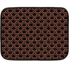 Scales2 Black Marble & Rusted Metal (r) Fleece Blanket (mini)
