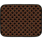 SCALES2 BLACK MARBLE & RUSTED METAL (R) Fleece Blanket (Mini) 35 x27 Blanket
