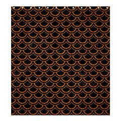 Scales2 Black Marble & Rusted Metal (r) Shower Curtain 66  X 72  (large)
