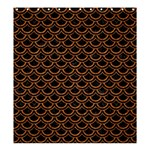 SCALES2 BLACK MARBLE & RUSTED METAL (R) Shower Curtain 66  x 72  (Large)  58.75 x64.8 Curtain