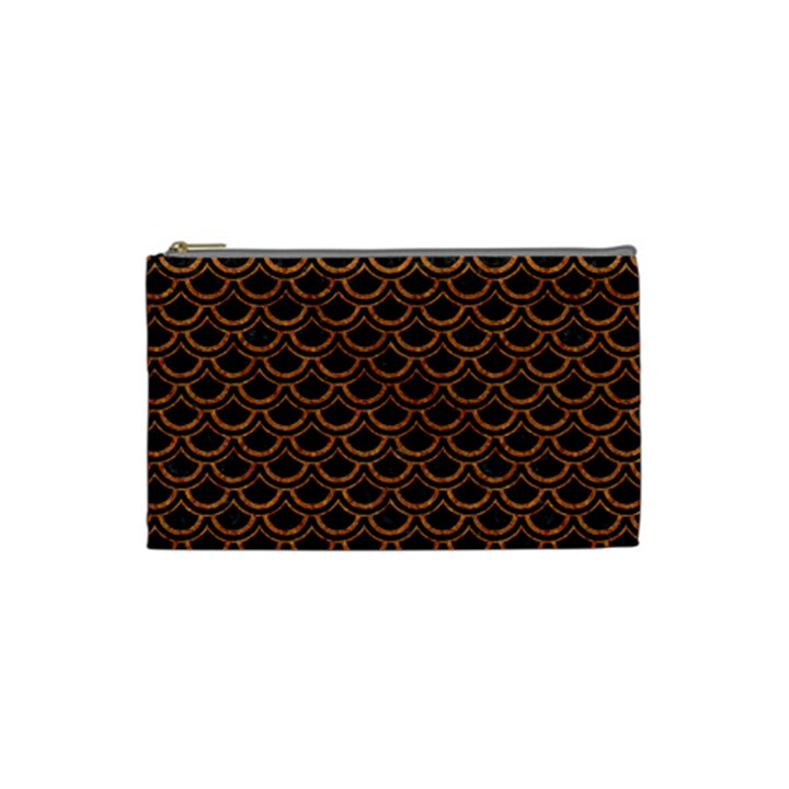 SCALES2 BLACK MARBLE & RUSTED METAL (R) Cosmetic Bag (Small)