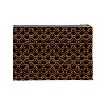 SCALES2 BLACK MARBLE & RUSTED METAL (R) Cosmetic Bag (Large)  Back