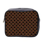 SCALES2 BLACK MARBLE & RUSTED METAL (R) Mini Toiletries Bag 2-Side Front