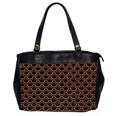 Scales2 Black Marble & Rusted Metal (r) Office Handbags (2 Sides)