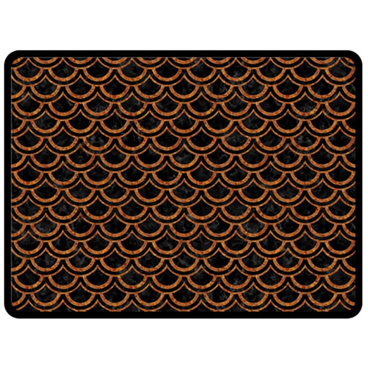 SCALES2 BLACK MARBLE & RUSTED METAL (R) Fleece Blanket (Large)