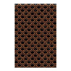 Scales2 Black Marble & Rusted Metal (r) Shower Curtain 48  X 72  (small)
