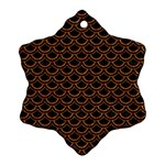 SCALES2 BLACK MARBLE & RUSTED METAL (R) Ornament (Snowflake) Front