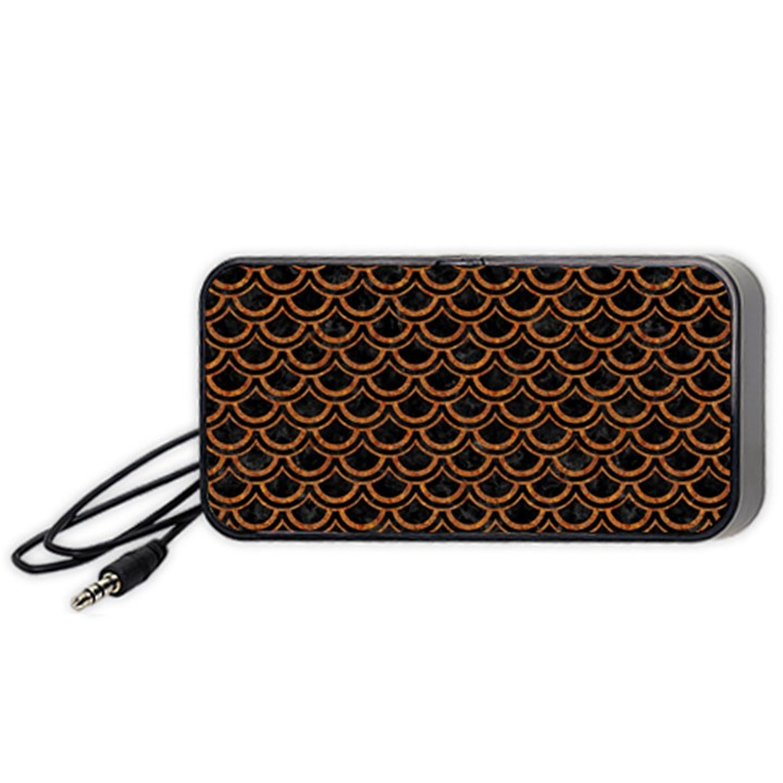SCALES2 BLACK MARBLE & RUSTED METAL (R) Portable Speaker
