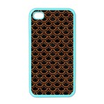 SCALES2 BLACK MARBLE & RUSTED METAL (R) Apple iPhone 4 Case (Color) Front
