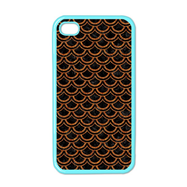 SCALES2 BLACK MARBLE & RUSTED METAL (R) Apple iPhone 4 Case (Color)